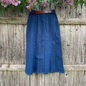 Vintage 90's high rise Pendleton denim skirt